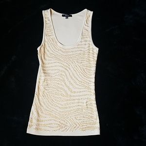 Express gold sequin tank size large